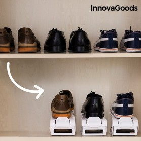 InnovaGoods Shoe Rack Slots ta 'Shoe Aġġustabbli (6 Par)