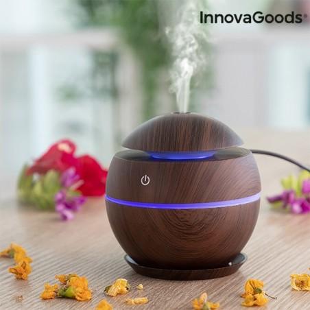 Mini mitrinātāja smaržas difuzors tumšā valrieksta InnovaGoods