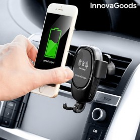 Mobilā tālruņa turētājs ar bezvadu lādētāju automašīnām Wolder InnovaGoods