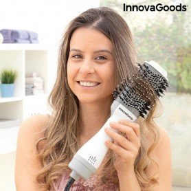 Ionic Dryer and Volumising Brush Volumio InnovaGoods 1000W White/Grey