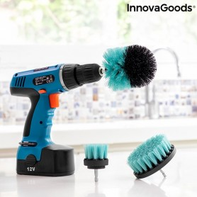 Set of Cleaning Brushes for Drill Cyclean InnovaGoods 3 Pieces