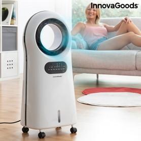 Bezasmeņu iztvaikošanas gaisa kondicionēšanas jonizators ar LED gaismu O·Cool InnovaGoods 90W
